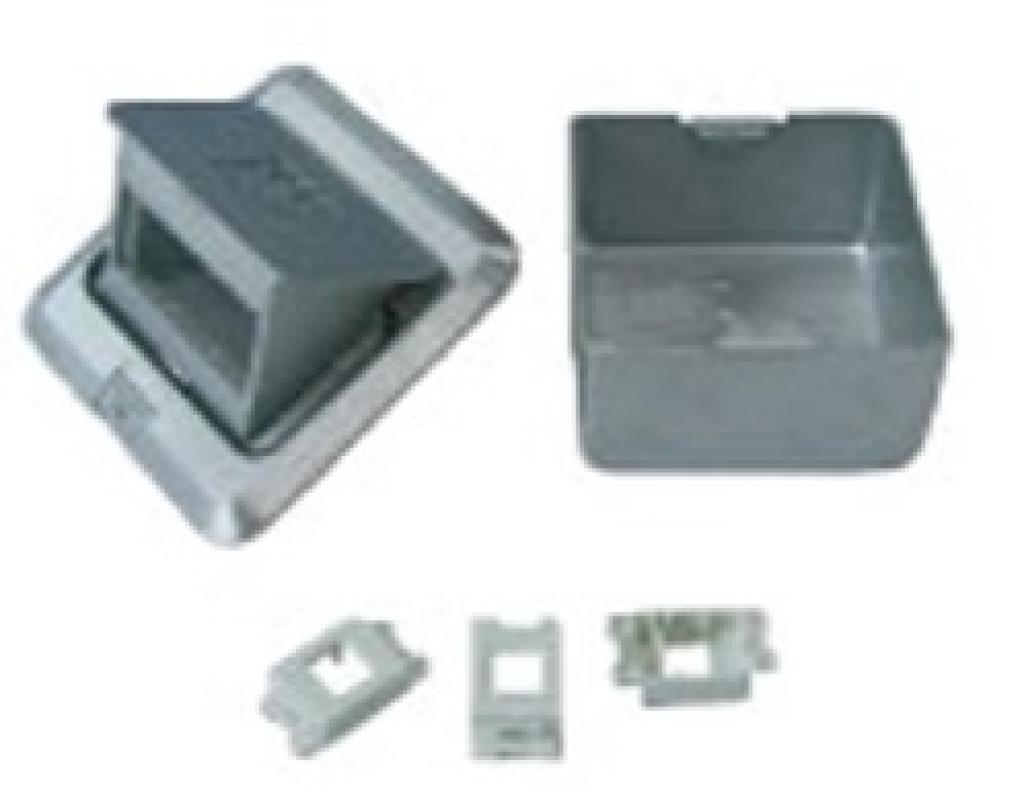 方形鋁合金彈跳式地板插座